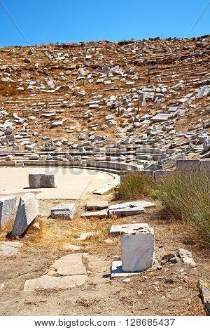 Archeology  In Delos  The Historycal   Ruin Site