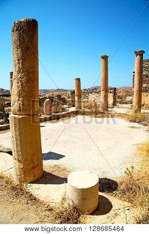Archeology  In Delos Greece  Site