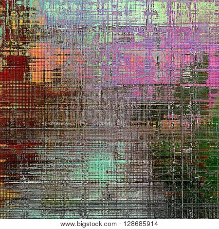 Retro style grunge background, mottled vintage texture. With different color patterns: yellow (beige); green; gray; red (orange); purple (violet); pink