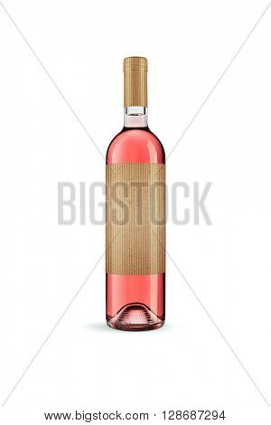 Exclusive wine bottle with a blank label -Clipping Path