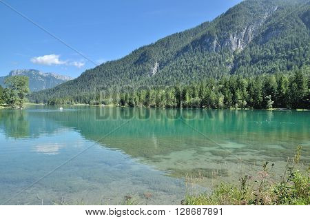at Lake Pillersee in Pillersee Valley near Kitzbuehel,Tirol,Alps,Austria