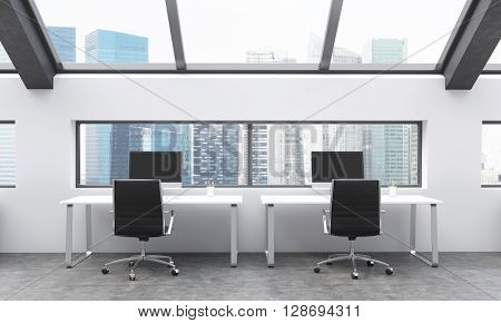 Coworking Area With Singapore View