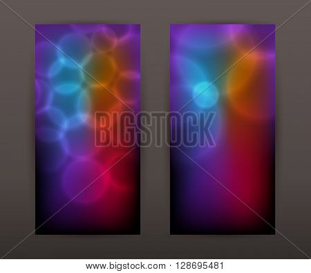 Blurry Circle Purple Vertical Banner Set Back Front Presentation