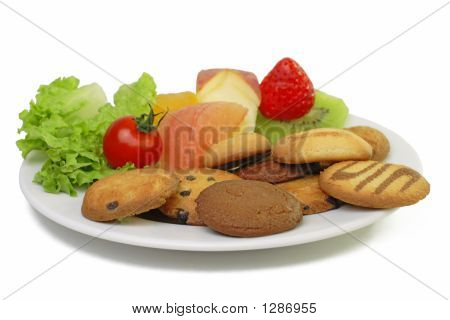Fruits And Biscuits