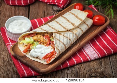 Tasty Fresh Wrap Sandwich.