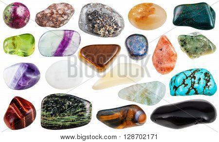 Set Of Various Tumbled Natural Gemstones