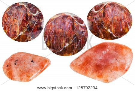 Set Of Various Sunstone (heliolite) Gemstones