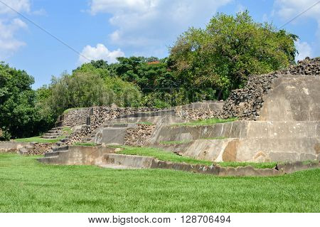 Tazumal archaeological site of Maya civilization in El Salvador. It is an architectural complex within the larger area of the ancient Mesoamerican city of Chalchuapa