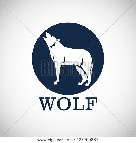 Wolf concept with icon design, vector illustration 10 eps graphic.