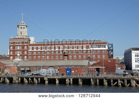PORTSMOUTH NAVAL BASE PORTSMOUTH HARBOUR ENGLAND UK - MARCH 16 2016: Semaphore tower building