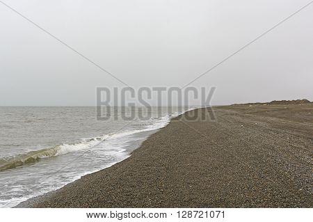 Looking North to Point Barrow on the Arctic Ocean near Barrow Alaska