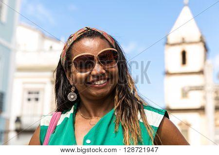 Brazilian woman from Bahia state at Pelourinho, Brazil