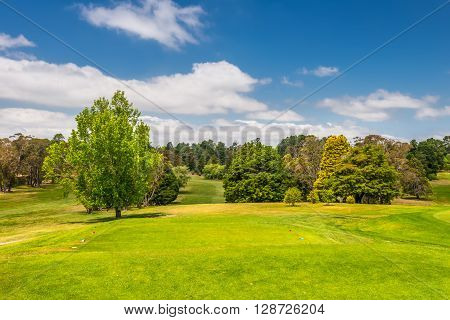 Golf course - Australia. A golf course is the grounds where the game of golf is played.