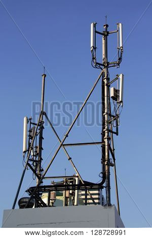 4G Cell Site, Telecom Radio Tower Or Mobile Phone Base Station