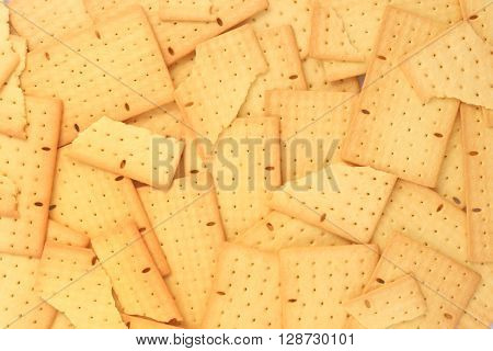 High resolution biscuits background - top view