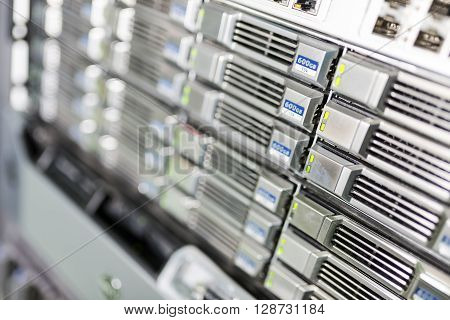 Storage Servers In Data Room Domestic Room