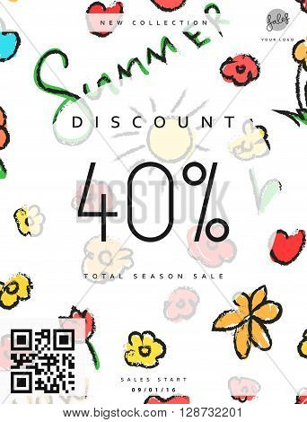 Discount 40. Discounts price tag. Summer discount. Black Friday. Clearance Sale. Discount coupon. Discount summer. Sale discount