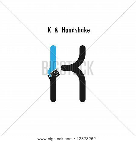 Creative K- letter icon abstract logo design vector template.Business offerpartnership icon.Corporate business and industrial logotype symbol.Vector illustration