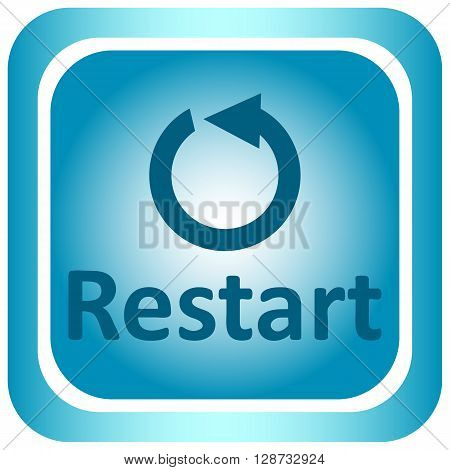 Icon the button with the restart symbol