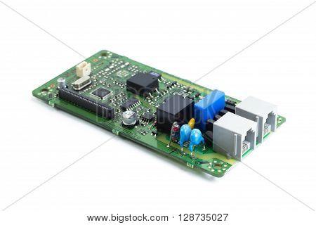 Electronics printed circuit board FAX circuit board