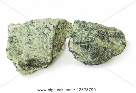Two piece apatite ore raw material for production of fertilizers