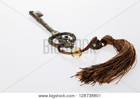 old retro key with tassel