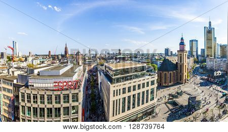 Afternoon View Of Frankfurt City Hauptwache