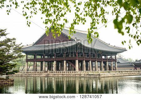 Seoul, South Korea - April 22, 2016: April 22, 2016 Gyeongbokgung palace in Seoul South Korea.