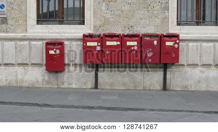 Red Mail Boxes