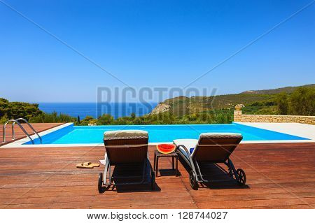 Big Luxury Pool With Decoration