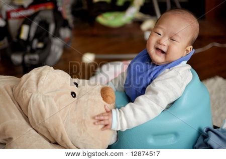 Baby with stuffed animal