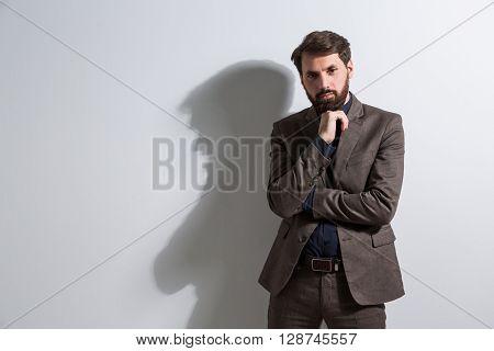 Businessman Hand At Chin