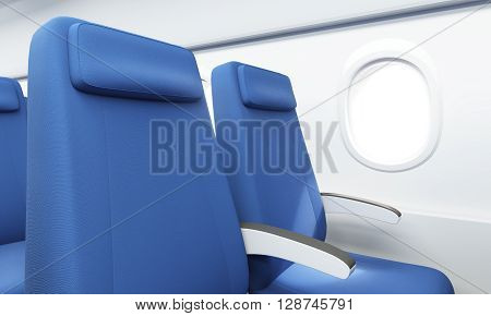 Airplane Seats Closeup