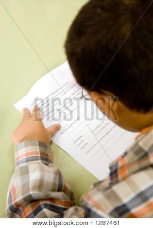 Boy In Primary School Education