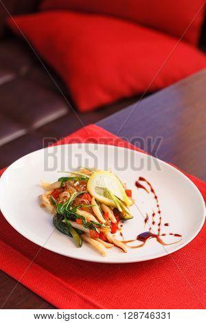 salad with calamari