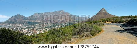 Table Mountain And Lions Head Cape Town  South Africa