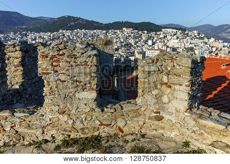 Panorama form fortress to Kavala, East Macedonia and Thrace, Greece