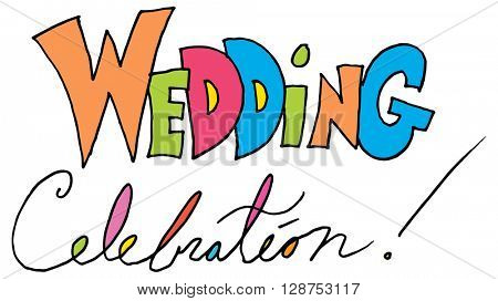 An image of a wedding celebration message.