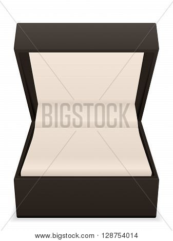 Jewelry box on a white background. Vector illustration.