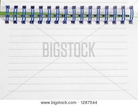 Closeup Spiral Bound Note Pad