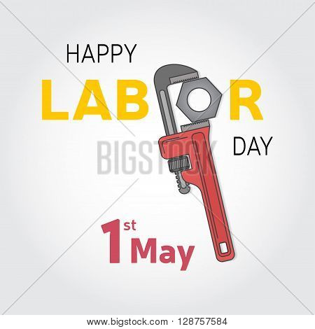 Poster, Banner Or Flyer Design With Stylish Text 1St May, Concept For Labours Day. Vector Illustrati