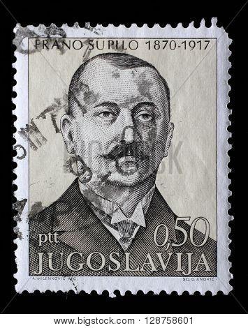 ZAGREB, CROATIA - JUNE 14: a stamp printed in Yugoslavia shows The 100th Anniversary of the Birth of Frano Supilo, Croatian politician and journalist, circa 1971, on June 14, 2014, Zagreb, Croatia