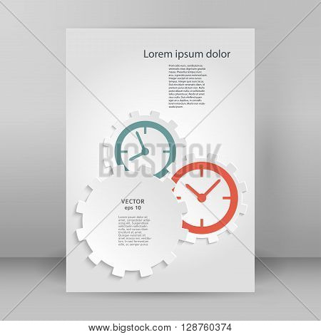 Time Motion Gears A4 Brochure Layout Page