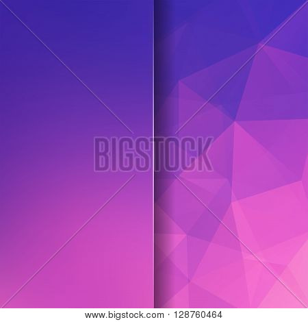 Abstract Geometric Style Pink Background. Violet Business Background Blur Background With Glass. Vec
