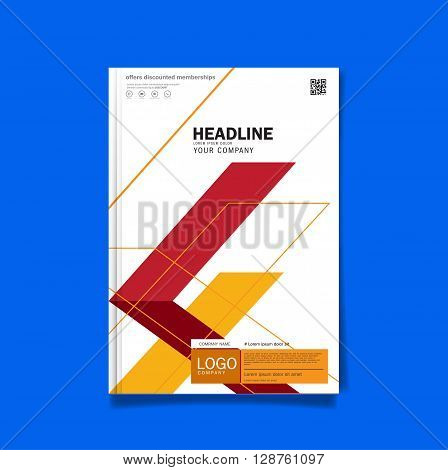 Business brochure flyer cover design layout template in A4 size with Premier design template background vector eps10.