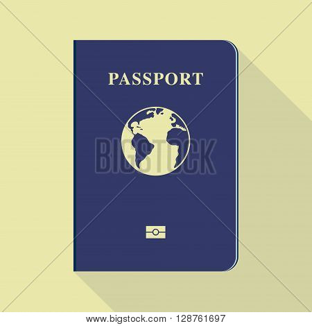 Passport icon. Hand drawn  vector stock illustration