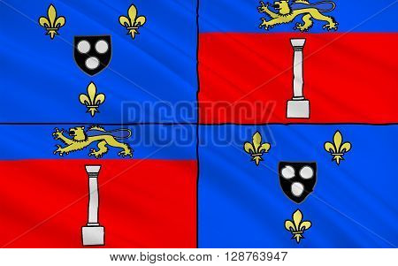 Flag of Antony is a French commune in the southern suburbs of Paris France.