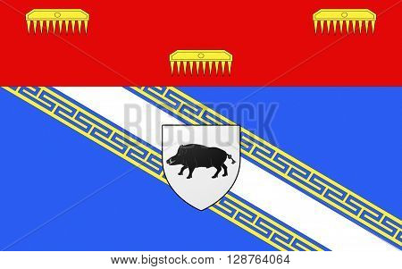Flag of Ardennes is a department in the Alsace-Champagne-Ardenne-Lorraine region of northeastern France named after the Ardennes area. Its prefecture is the town Charleville-Mezieres. The inhabitants of the department are known as Ardennais or Ardennaises