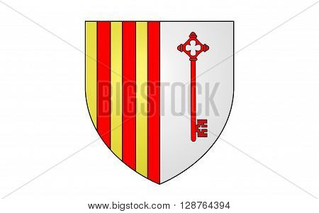Flag of Barcelonnette is a commune of France and a subprefecture in the department of Alpes-de-Haute-Provence in the Provence-Alpes-Cote Azur region