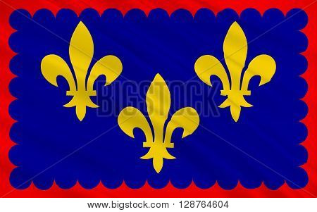 Flag of Berry is a region located in the center of France.